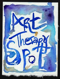 The original Art Therapy Spot 'logo' watercolor image I created.