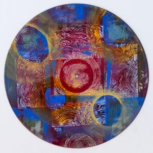 Vinyl Record Mandala acrylic on vinyl Sara Roizen