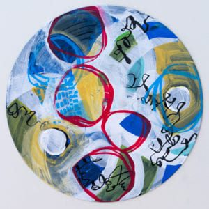 Vinyl Record Mandala acrylic on vinyl record Sara Roizen