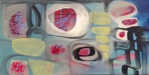 untitled (so far)! acrylic on canvas Sara Roizen