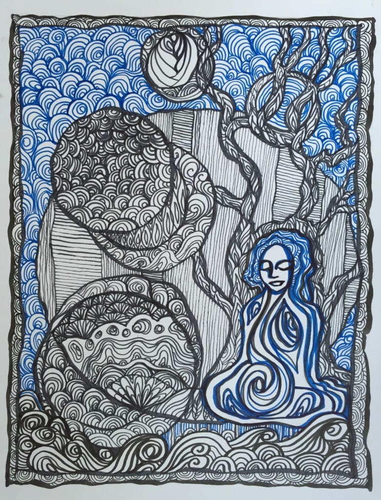 Meditating on change... Pen on paper Sara Roizen